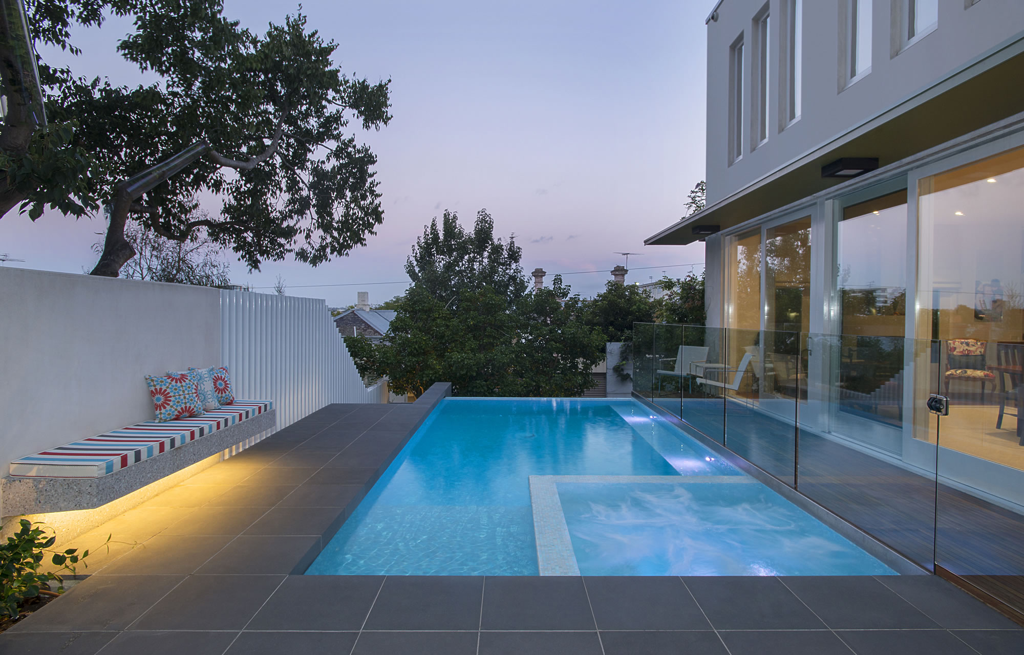 Pool Designs With Spa Intended Oftb Melbourne Swimming Pool Builders Landscape Architecture Design Garden Custom Concrete Construction Spas Plunge Pools