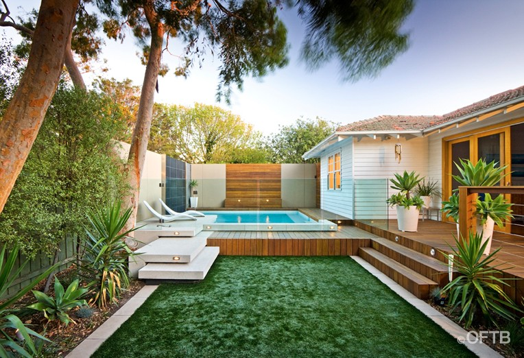 Oftb melbourne landscaping pool design construction for Pool design ideas australia
