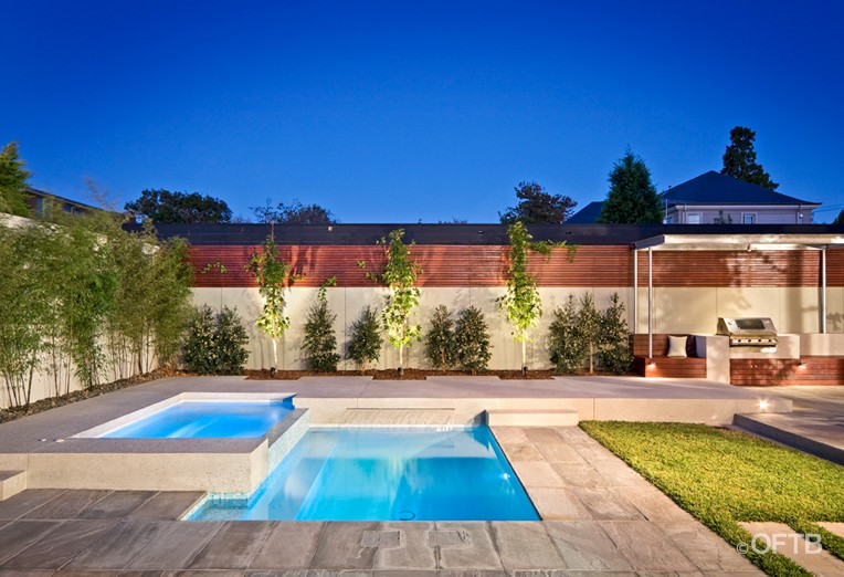 Oftb Melbourne Landscaping Pool Design Construction Project Pool Spa Inc Water Feature