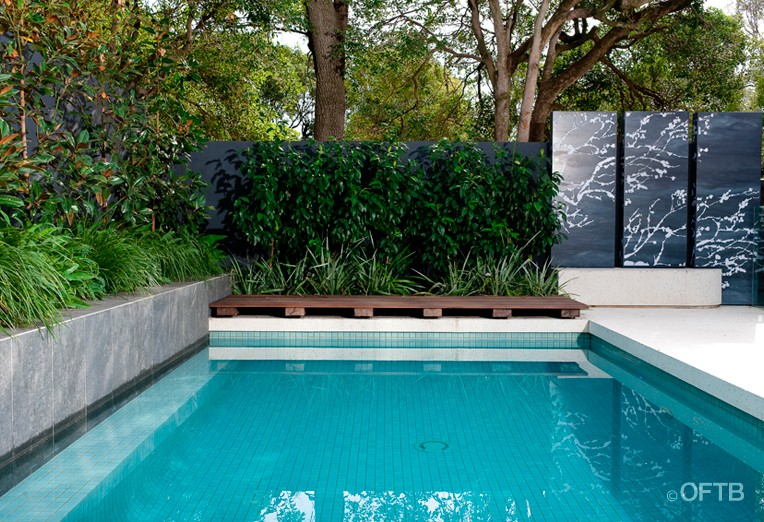 Oftb melbourne landscaping pool design construction for Garden near pool