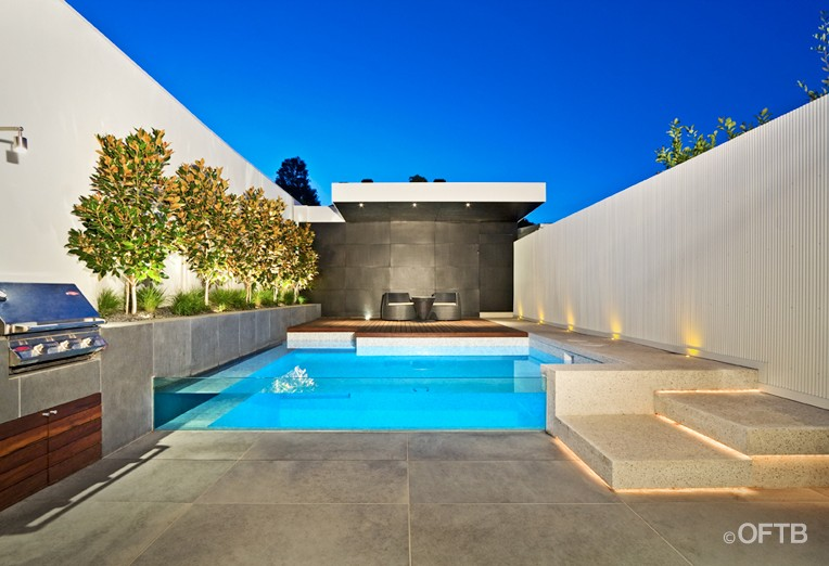 Oftb Melbourne Landscaping Pool Design Construction Project Plunge Pool Inc Window Pool