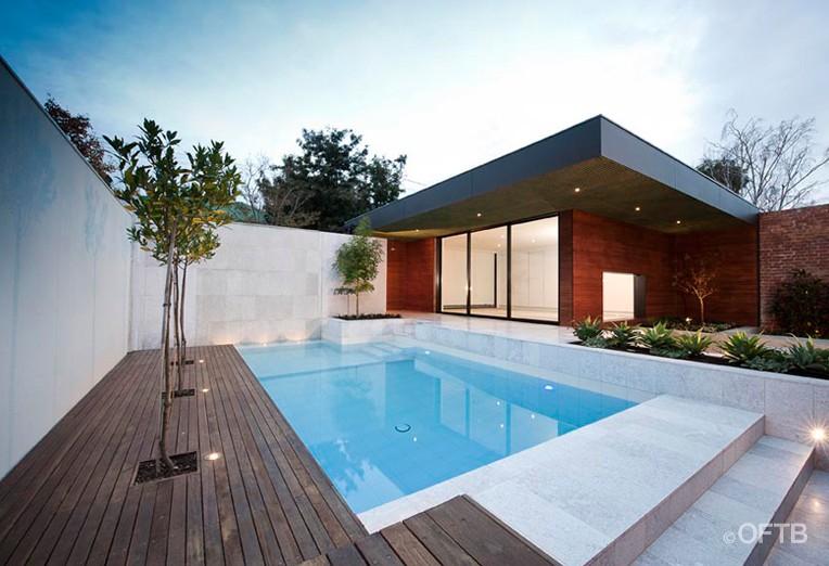 Oftb melbourne landscaping pool design construction for Landscape contractors melbourne