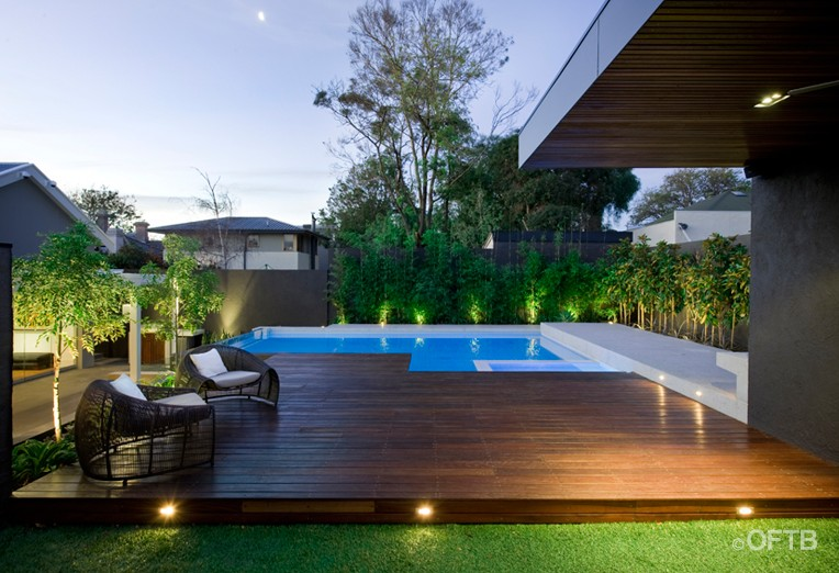 small garage gym ideas - OFTB Melbourne landscaping pool design & construction