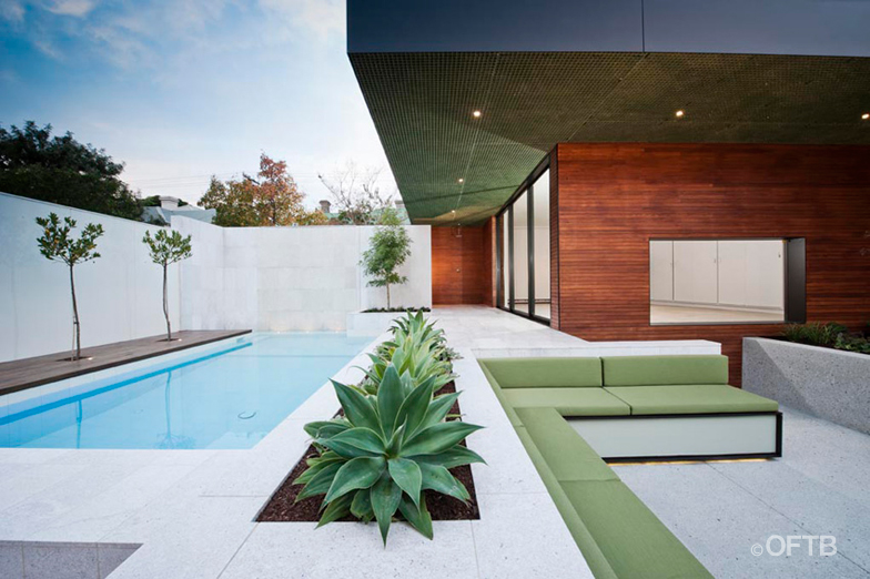 Oftb melbourne landscaping pool design construction for Albercas modernas