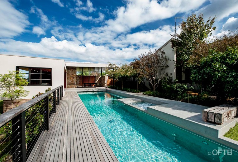 Oftb Melbourne Landscaping Pool Design Amp Construction Project Lap Pool Amp Spa Inc Automatic
