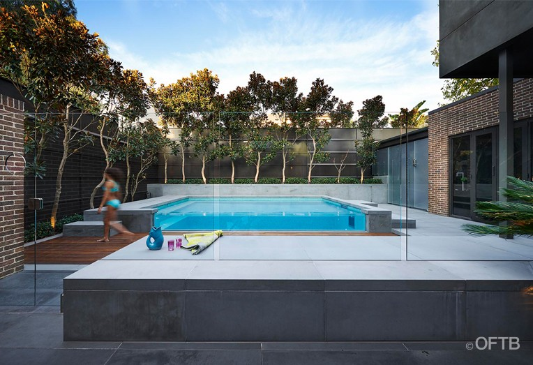Profile oftb melbourne swimming pool builders for Residential landscape architects melbourne