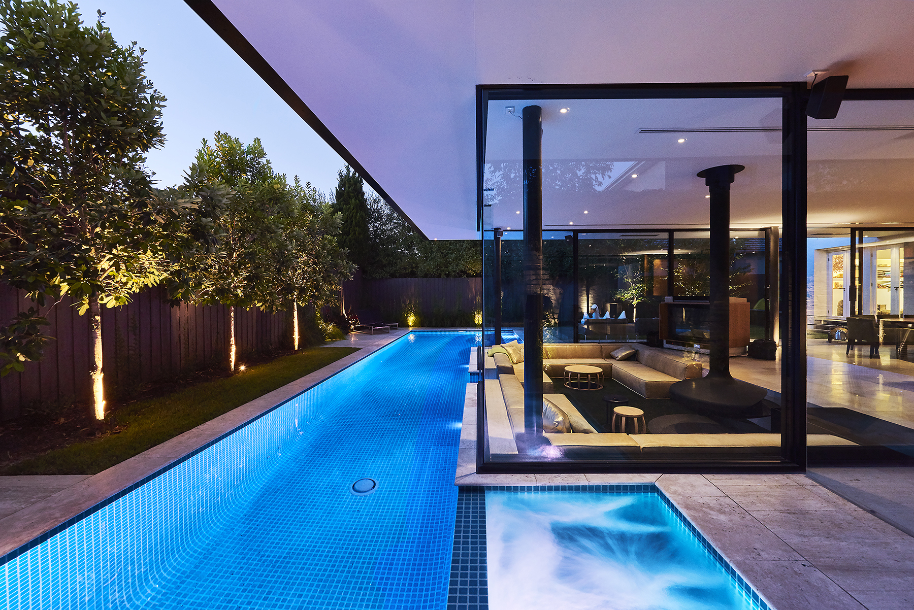 Oftb melbourne landscaping architecture pool design for Construction pool house piscine